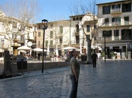 The plaza Constitucio, Soller